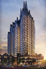 Majella lodged a development application proposing a 27 -storey residential tower at the Broadway Hotel site.
