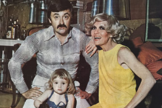 Barry Little with his wife Jeanne and their daughter Katie, at home in the early 1970s.