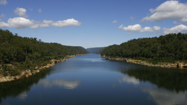 Warragamba Dam, which is about 60 per cent full, is being considered for a wall-raising that would flood part of the Blue Mountains World Heritage area.