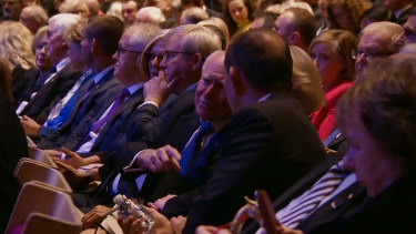 Malcolm Turnbull, Kevin Rudd, John Howard and Tony Abbott were among the former leaders in attendance.