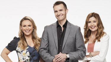 Married at First Sight's experts Mel Schilling, John Aiken and Trisha Stratford.