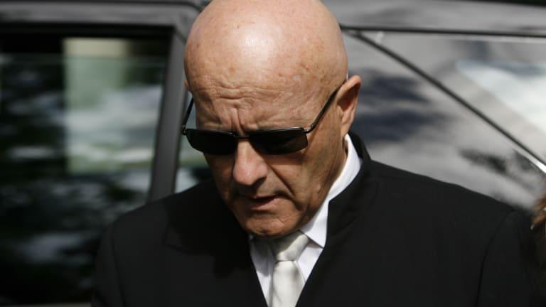 Kim Ledger at his son's memorial service in Perth in 2008.
