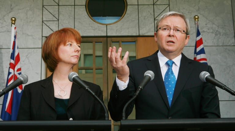 Julia Gillard, with Kevin Rudd in 2008, was also labelled Lady Macbeth.