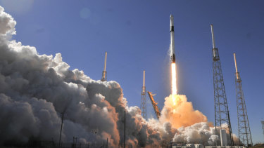 A SpaceX Falcon 9 rocket lifts off toward the International Space Station, where tourists could soon be holidaying.