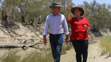 Darriea Turley, Labor's candidate for Barwon and the mayor of Broken Hill, has made several trips to Menindee. One of those visits included Michael Daley, the Labor leader.