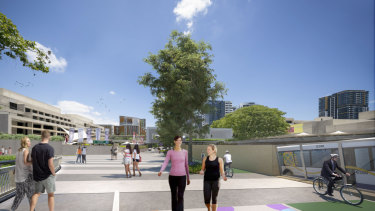 Victoria Bridge would continue to have a bus, pedestrian and cycling spine linking South Brisbane with the city.