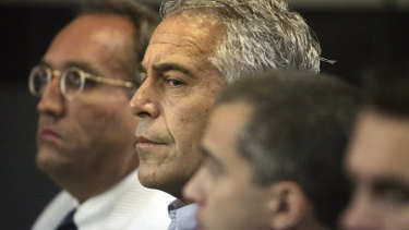 Jeffrey Epstein appears in court in West Palm Beach in 2008.