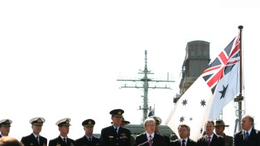 Kevin Rudd launches his 2009 defence white paper today aboard HMAS Stuart.