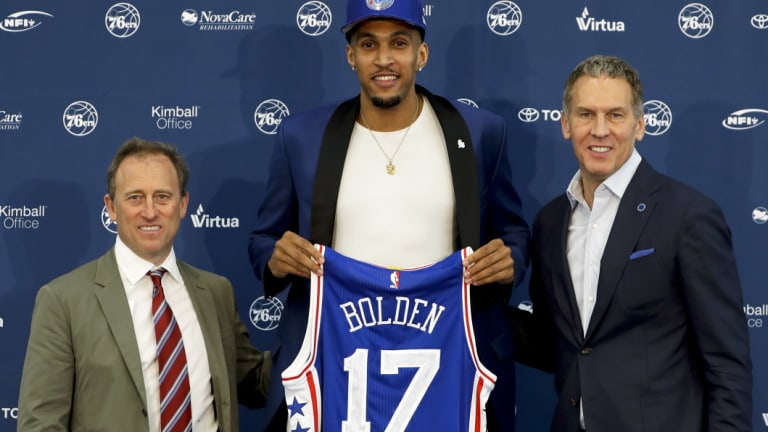 Impressive stint: Jonah Bolden perfromed well in Europe after being drafted by Philadelphia.
