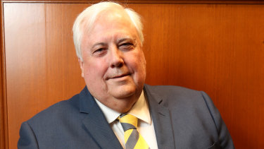 Clive Palmer was not in court on Tuesday.