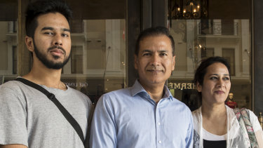 Disappointed: The Khan family left David Jones empty-handed.