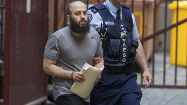 Ibrahim Abbas arriving at the Supreme Court, Melbourne.