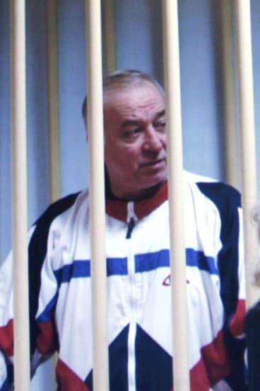 Sergei Skripal behind bars in 2006.