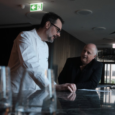 """Martin Benn, left, and Chris Lucas: creating Society is a chance to launch a """"destinational"""" restaurant."""