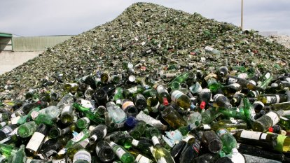 Melbourne glass recycling plant barred over fire threat