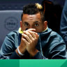Collarbone injury forced Kyrgios out as Australia beaten by Canada