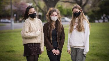 Necia Biviano, Mia Quinn and Eliza Meckiff.