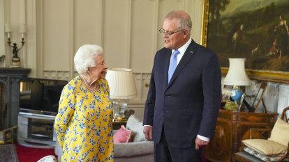 Beaming Queen receives Prime Minister Scott Morrison in Windsor Castle