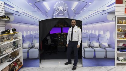 Why there's a flight simulator hidden in the back of an EzyMart in Sydney's CBD