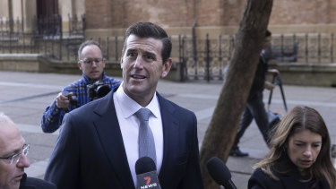 Ben Roberts-Smith outside the Federal Court in Sydney earlier this year.