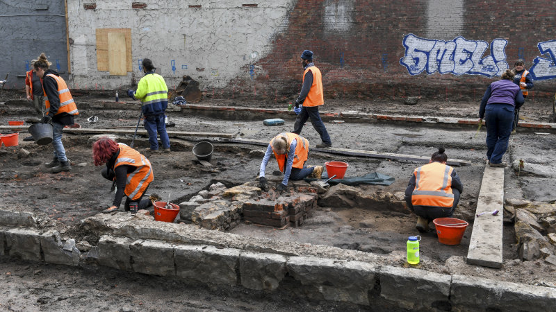 Archaeological dig uncovers huge pre-Gold Rush trove in Melbourne CBD