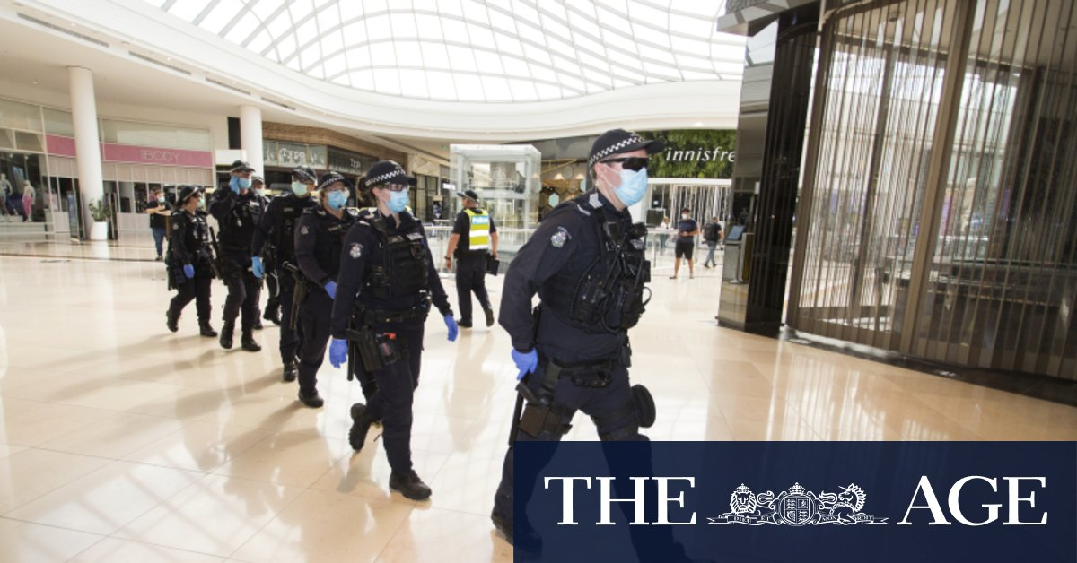Two arrested six fined after minor anti-lockdown protest at Chadstone – The Age