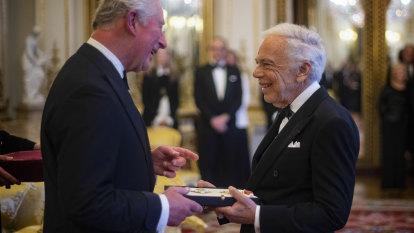 Ralph Lauren receives honorary knighthood