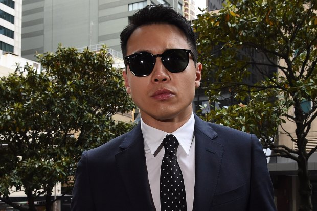 Chinese actor Yunxiang Gao enters the Downing Centre court on Wednesday morning.