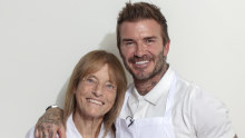 Ruth Rogers with David Beckham