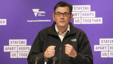 Premier Daniel Andrews announcing Melburnians will be allowed to travel from November 9.