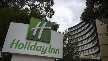 The Holiday Inn at Melbourne Airport where the female hotel quarantine worker contracted the virus.