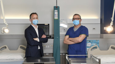 Professor Andrew Udy and Professor David Pilcher are keeping a close on on Australia's coronavirus hospital admissions.