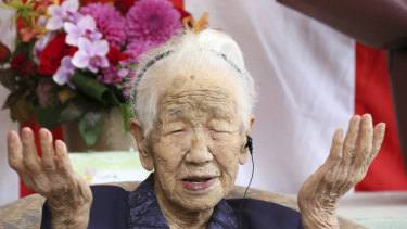 Kane Tanaka from Fukuoka, Japan, is said to be the oldest living person in the world at 116 years.
