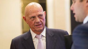 Solomon Lew has accused Myer of turning into the world's largest post office.