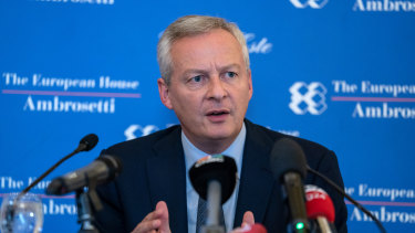 """Economy Minister Bruno Le Maire: """"We must dry up the channels of financing of terrorists.''"""
