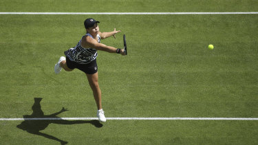 Too strong: Fresh from victory on the French clay, Barty has quickly adjusted to the grass courts of the English summer.
