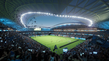What Sydney FC's home games could look like at the new stadium.