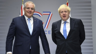 Scott Morrison and Boris Johnson will meet again at the G7 in Cornwall next month.