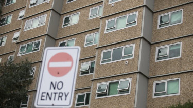 Nine public housing towers are in hard lockdown due to a COVID-19 outbreak.