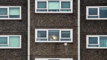 Nine public housing estates were placed into lockdown.