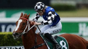 In-form apprentice Louise Day (pictured on Witherspoon) will ride Miss Fox at Warwick Farm on Wednesday.
