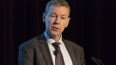 ASIC head John Price speaking at the COSBOA National Small Business Summit last week.