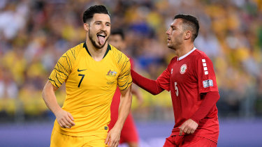 Back in gold: Mathew Leckie could turn out in this year's Asian Cup for the first time in the Socceroos' round-of-16 clash.
