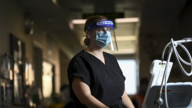 Western Health Registered Nurse Kate Wight has been working with COVID-19 patients at Footscray hospital.
