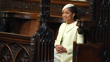 The bride's mother, Doria Ragland, during the ceremony.