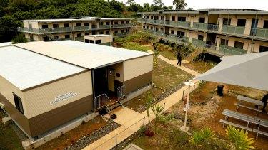 Buildings at the East Lorengau Refugee Transit Centre and West Lorengau Haus on Manus Island.