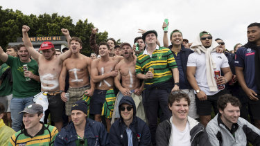 Fans at the Shute Shield final.