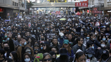 The pro-democracy protests have rocked the Chinese-ruled city for six months..