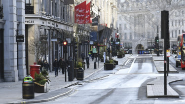 Regent Street after Prime Minister Boris Johnson introduced Tier 4 restrictions for London and the south-east of England.