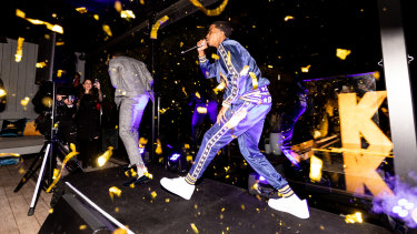 Christian Combs performing at the launch of K by Dolce & Gabbana.